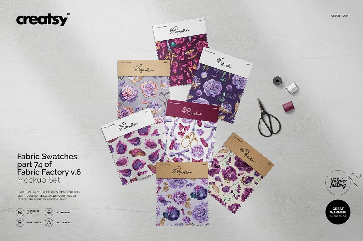Fabric Swatches Mockup 74 FF v.6