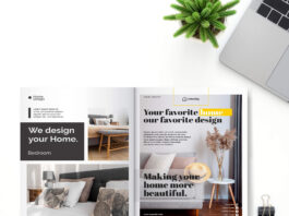 Free Book Page Mockup PSD Template