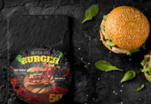 Free Burger Wrapping Paper Mockup PSD Template