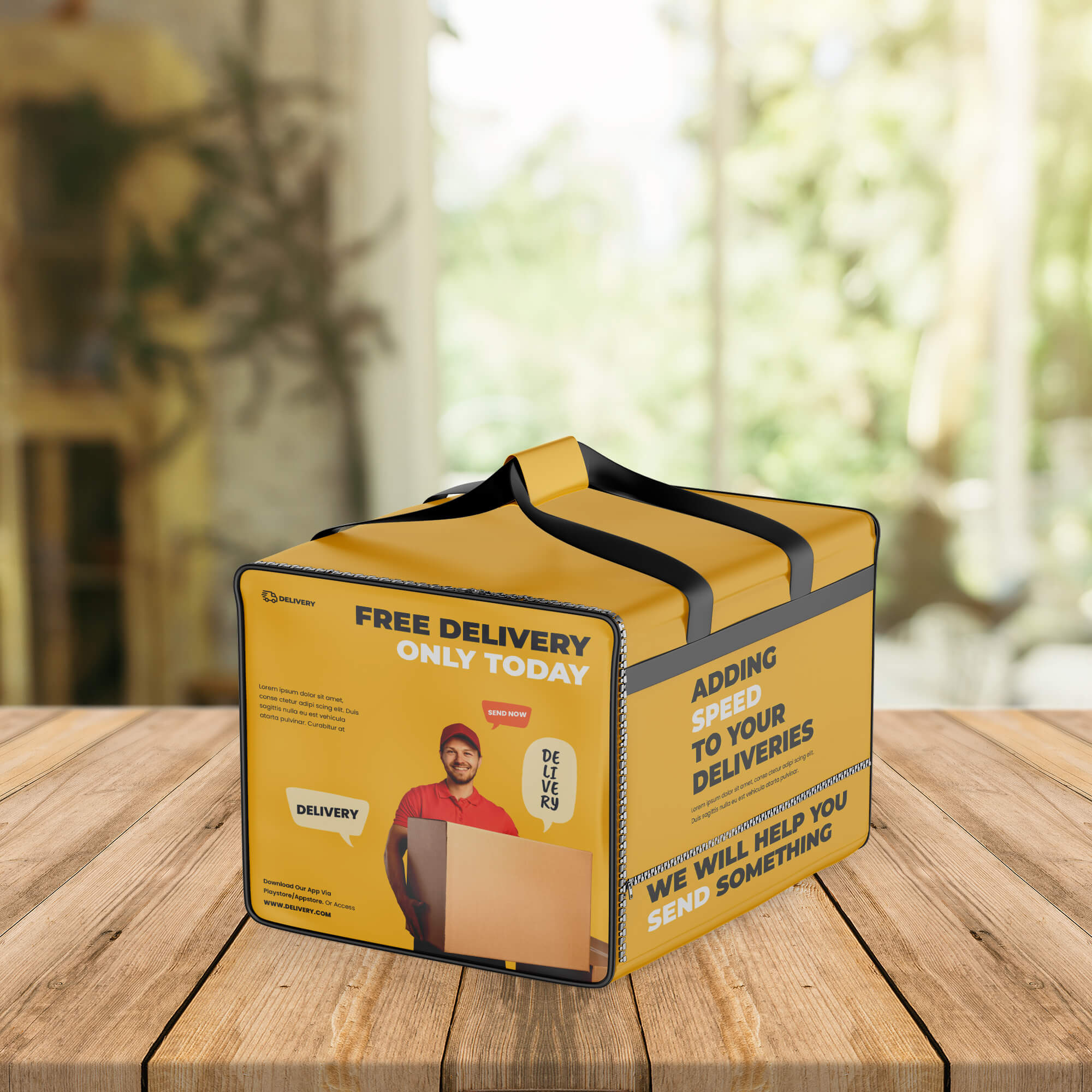 Free Food Delivery Bag Mockup PSD Template