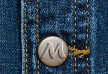 Free Jeans Button Mockup PSD Template