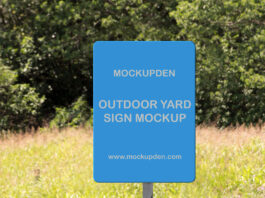 Free Outdoor Yard Sign Mockup PSD Template