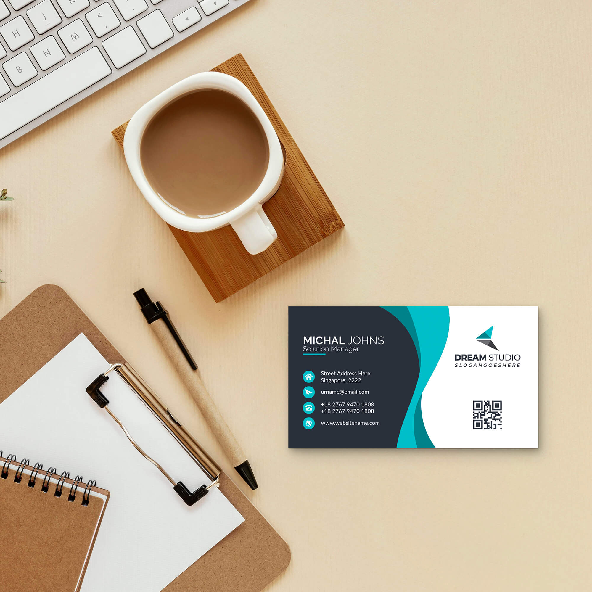 Free Personal Card Mockup PSD Template