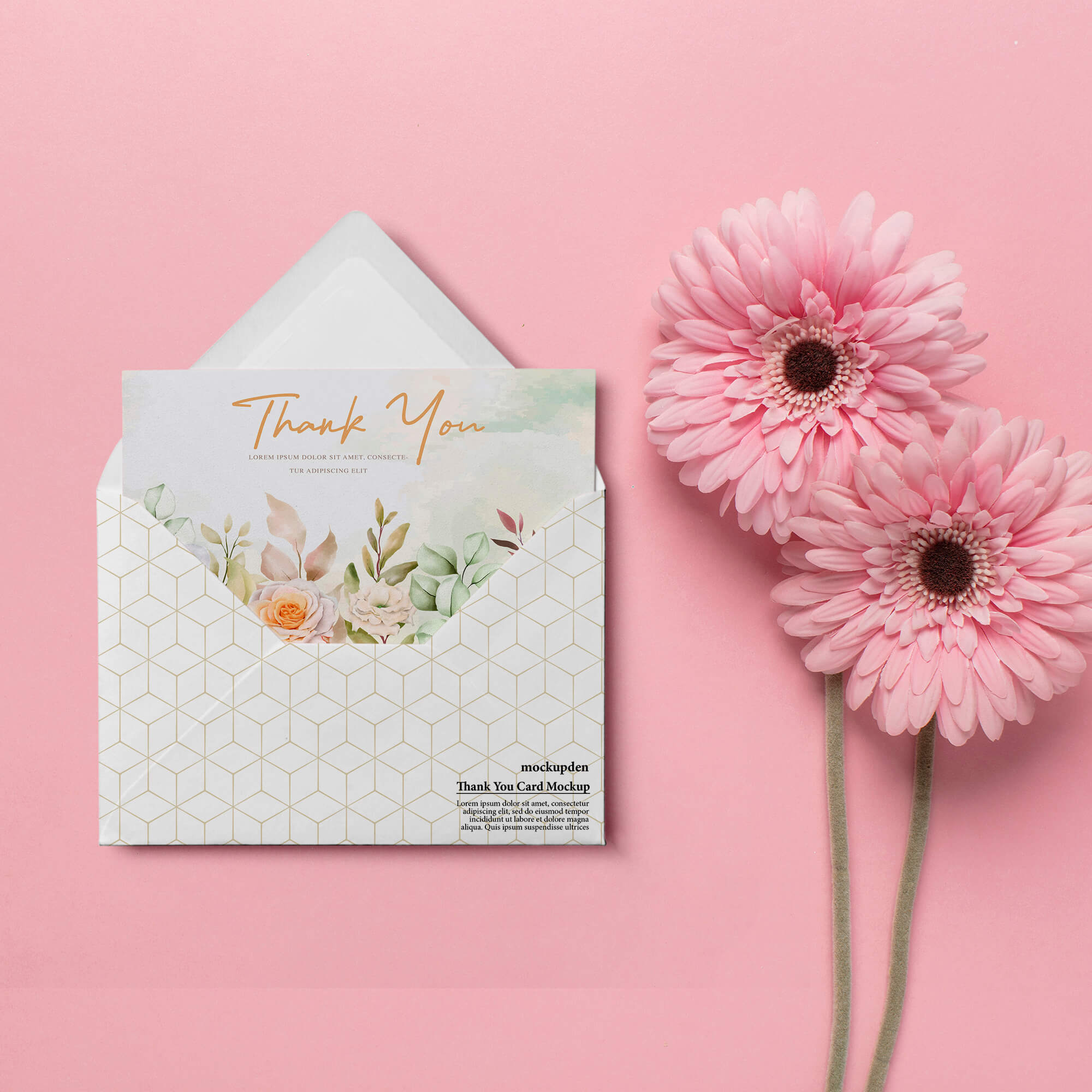 Free Thank You Card Mockup PSD Template