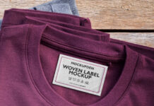 Free Woven Label Mockup PSD Template