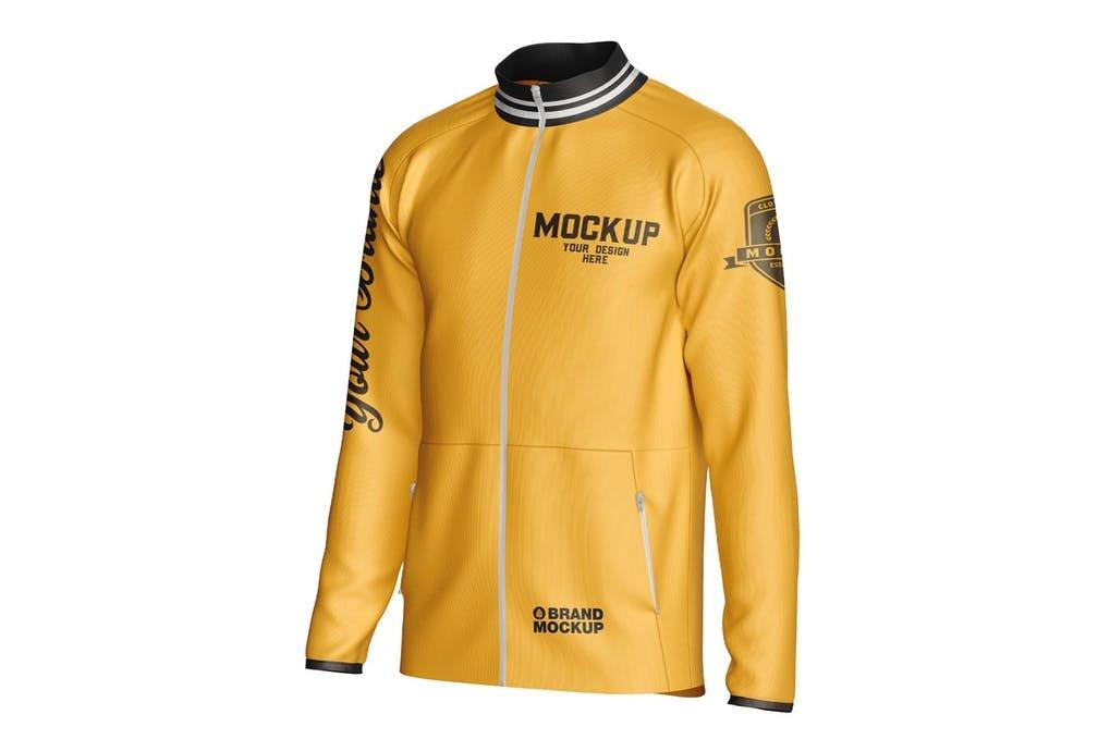 Long Sleeve Track Jacket Mockup