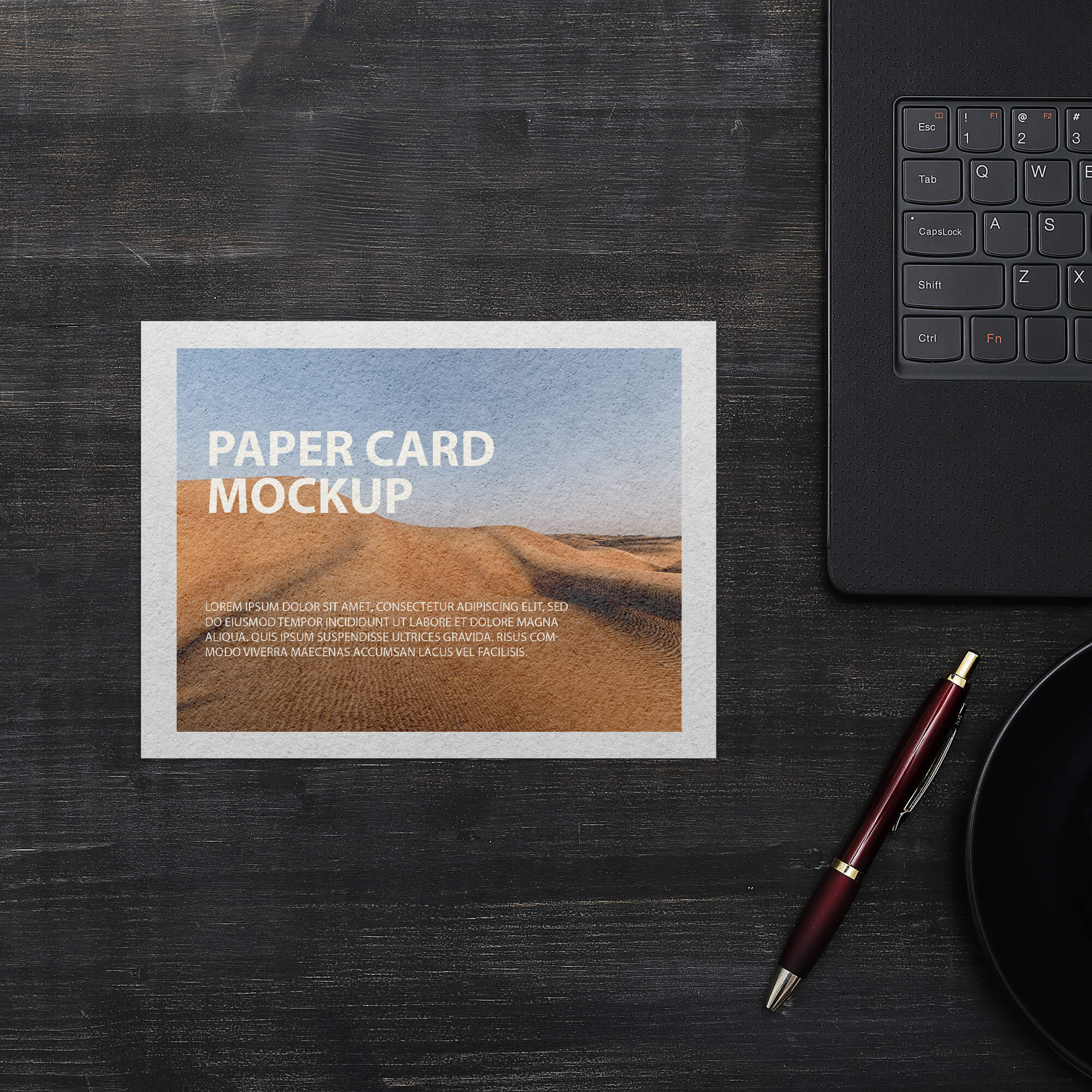 Free Paper Card Mockup PSD Template