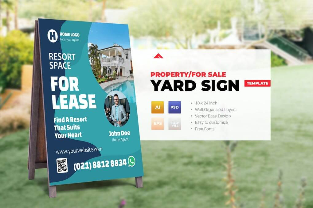Property Sign Yard For Sale Template (1)
