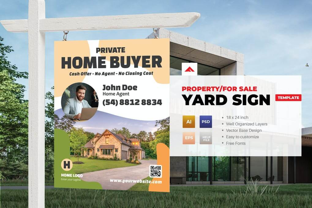 Property Sign Yard Template