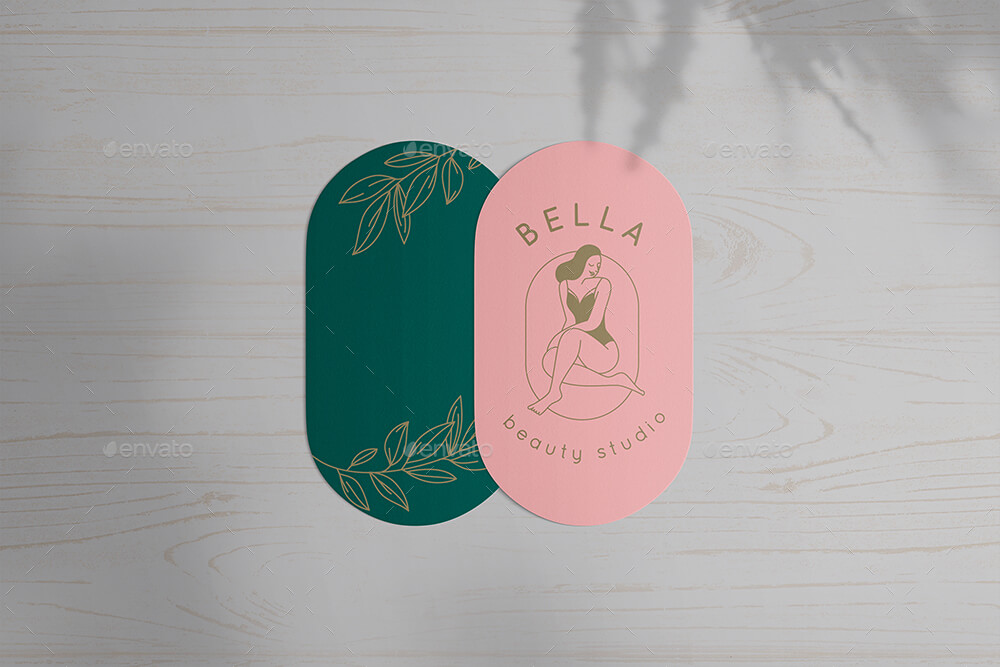 Rounded Corners Stickers Cards Mock-Ups Vol.1