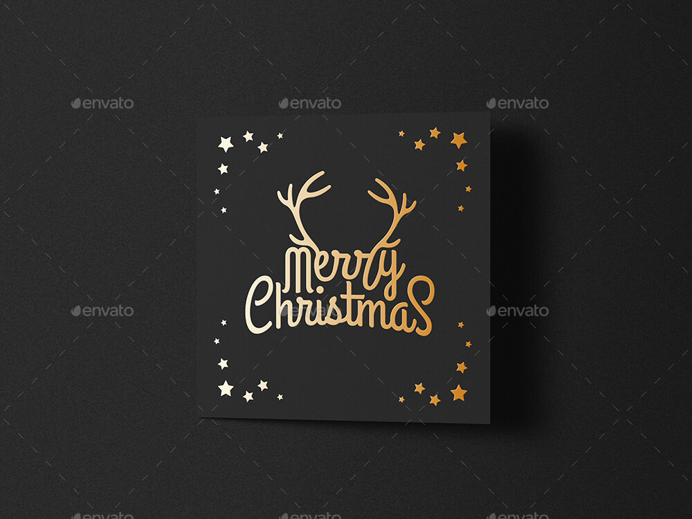 Square Greeting Card Mock-Up Foil Stamping Edition