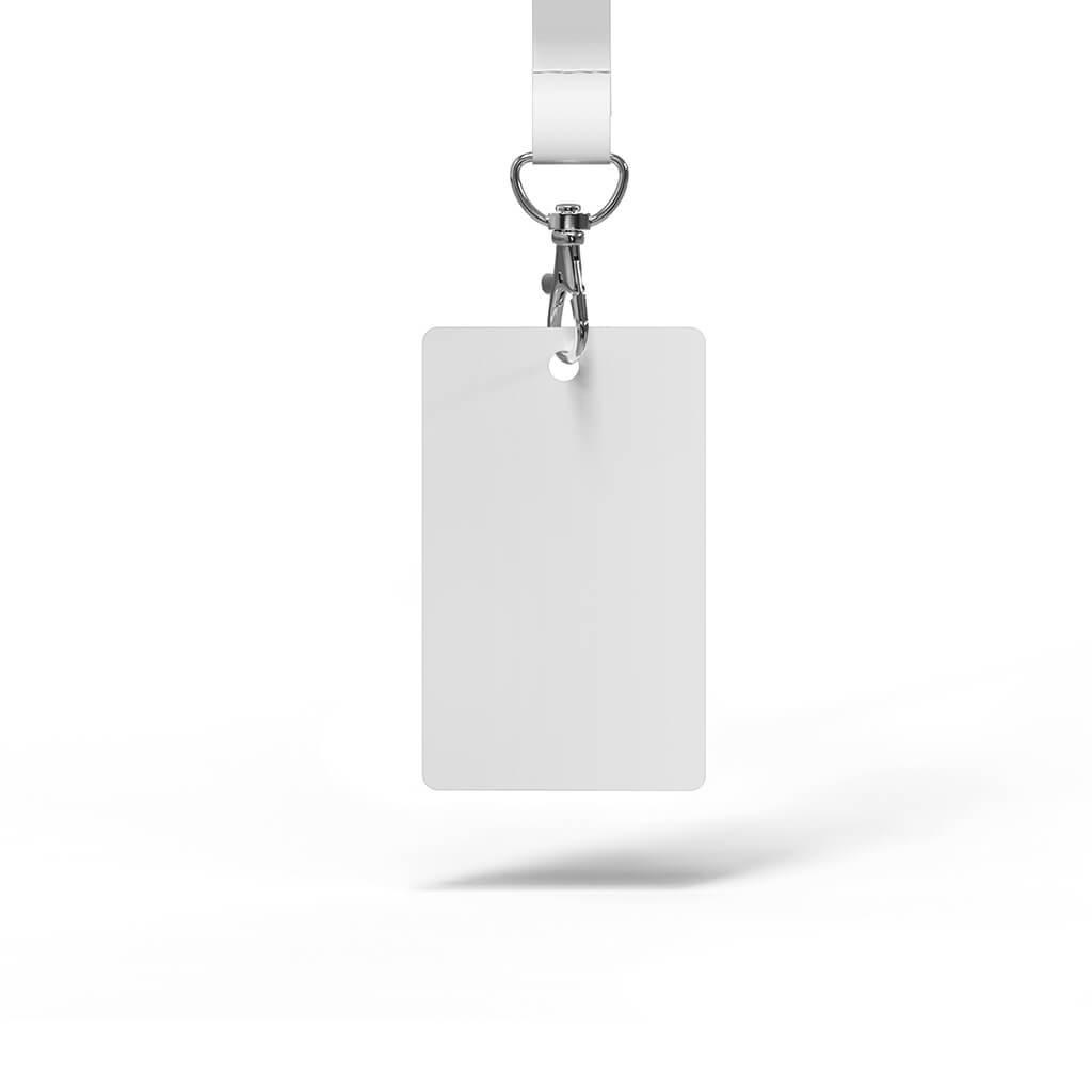 Blank Free Hanging ID Card Mockup PSD Template