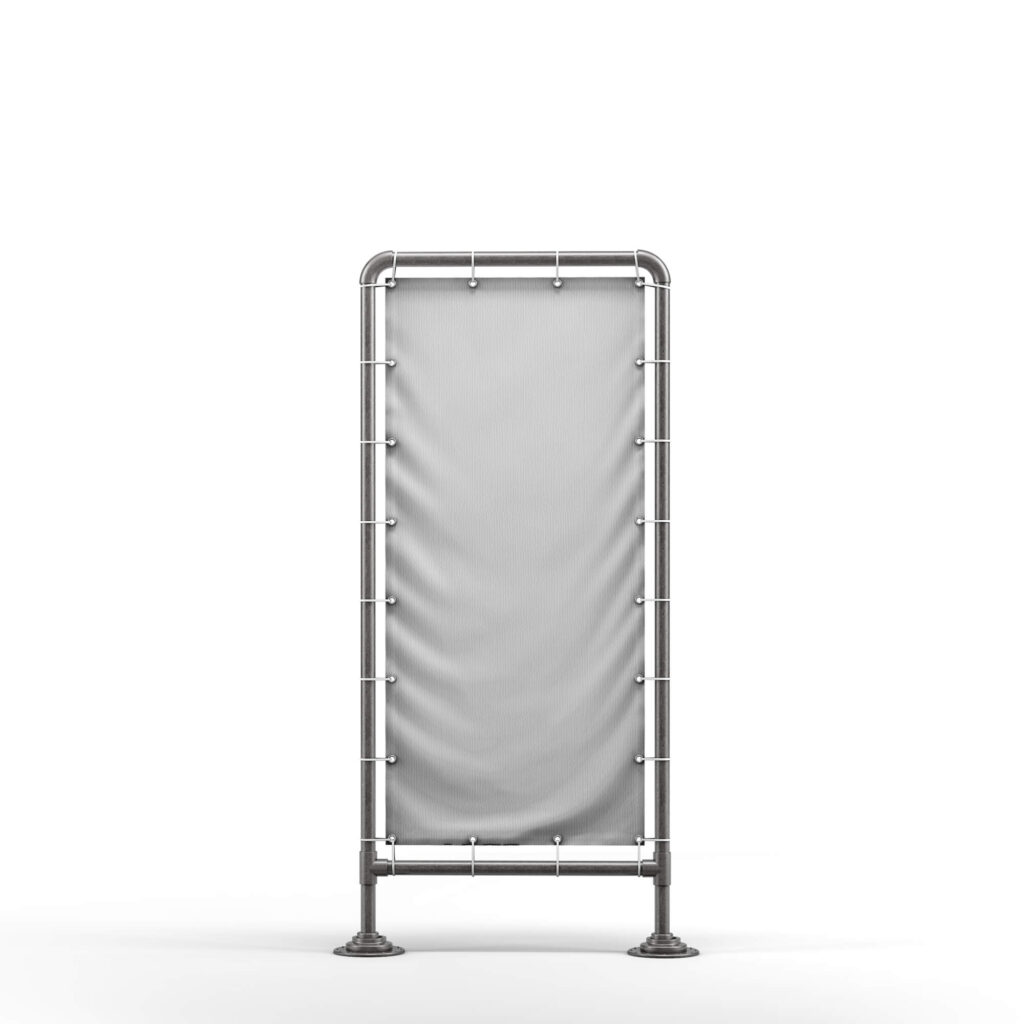 Blank Free Stand Banner Mockup PSD Template (2)
