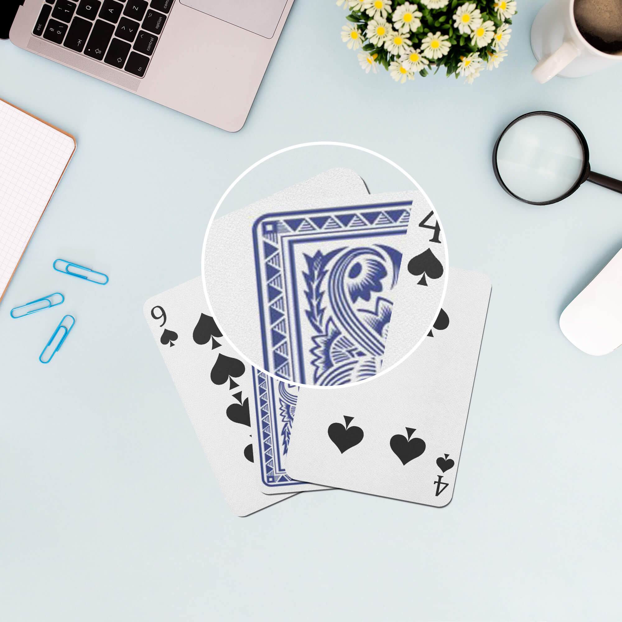 Close Up Of a Free Card Deck Mockup PSD Template (1)