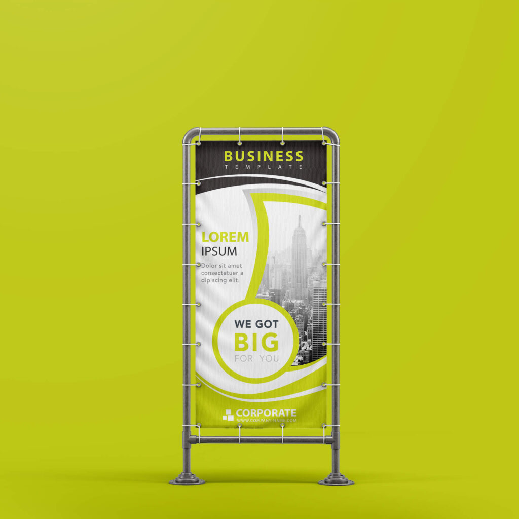 Design Free Stand Banner Mockup PSD Template (3)