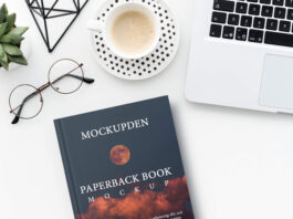 Free Paperback Book PSD Template