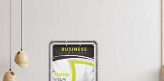 Free Stand Banner Mockup PSD Template (2)
