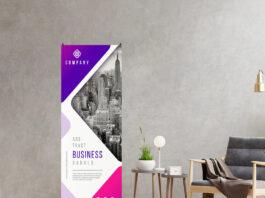 Free X Banner Mockup PSD Template
