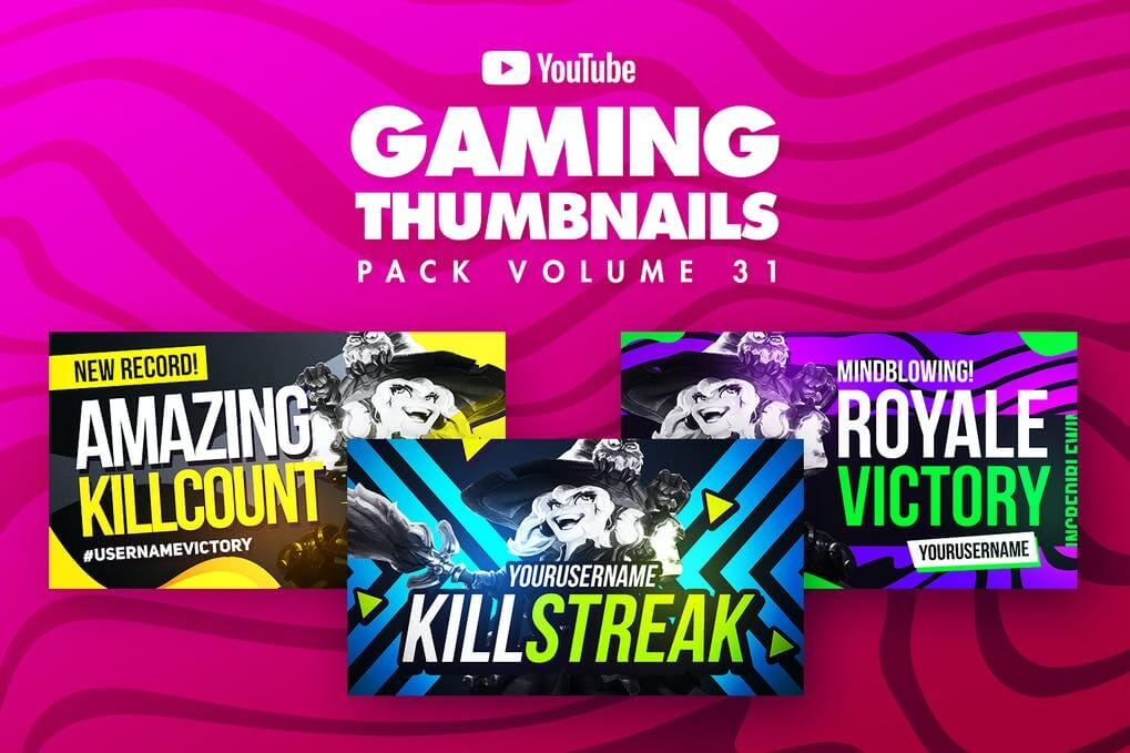 Gaming Youtube Thumbnails Pack 31