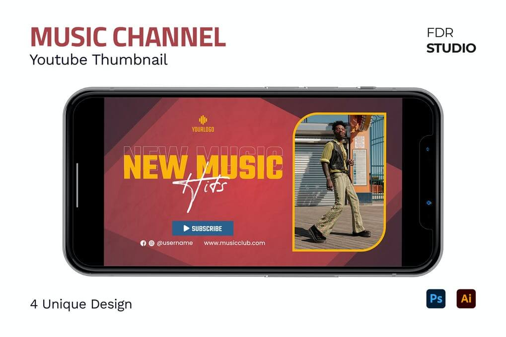 Music Channel Youtube Thumbnail