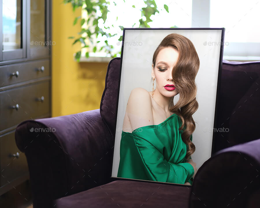 Wall Art and Poster Mock-up - Real Interior Photo with Frame (6 Images Pack)