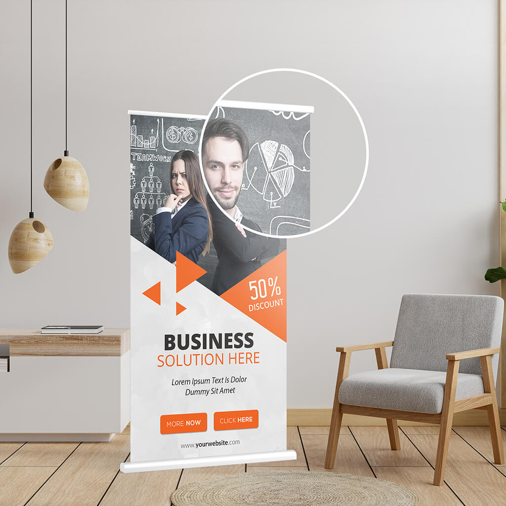 Close Up Of a Free X Banner Mockup PSD Template (1)